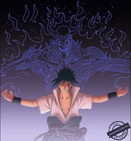 Evil Sasuke with Susanoo by DemonFoxKira