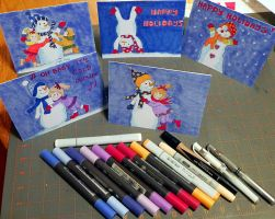 Holiday Card Project 2014 by Lou-in-Canada