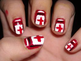 Left 4 Dead Health Pack Nails by Princespurple107
