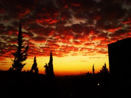 Sunset in Syria by merage