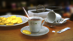 Blender - Tea Time WIP by SlykDrako