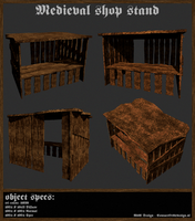 Medieval Shop Stand - Redone by OceansCurse