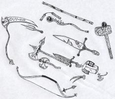 sowrds and weapons 2 by Agate
