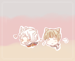 Chibi prussia and germany cat by Nekomimiarthur