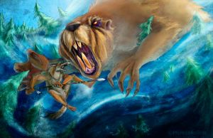Moster Beaver vs. Coyote by PureMissa