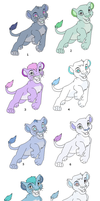 Adoptables by lutara123
