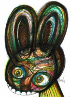 Rabbit in your headlight by nteko