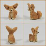 Fennec Fox Sculpture by LeiliaClay