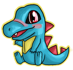 Totodile Chibi by IcyPanther1