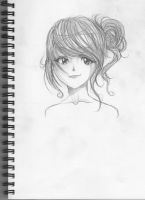 quick hairstyle sketch by crisscrossrain