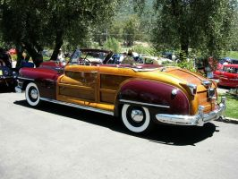 1946 Chrysler Town and Country Red Convertible by RoadTripDog