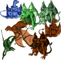 Dragons by serie