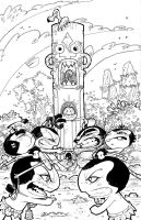 Pocket God 7: Inked Cover by RoloMallada