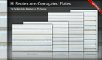 Texture Corrugated Plate Pack by ncrow