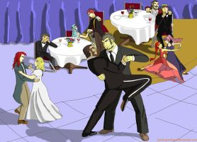 Gilliam and Garcia's wedding dance of loves by GamingArtSeer