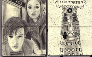 Doctor who moleskine by brodieman1000