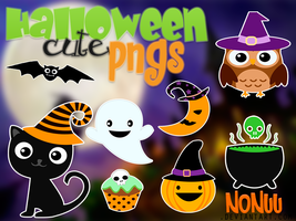 Halloween Cute png's by Nonuu