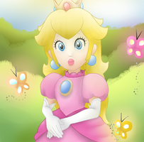 Princess Peach by mariogamesandenemies