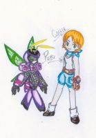 Puru And Cassie colored by CrissyG