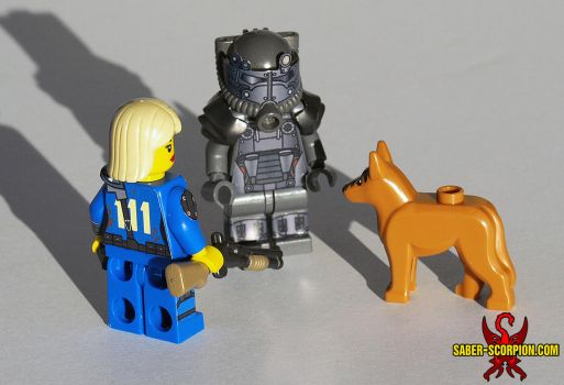 LEGO Fallout 4: Survivor, T60 Power Armor, Dogmeat by Saber-Scorpion