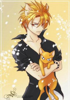 Kyo Sohma Nyanko Final by Zaph-chan