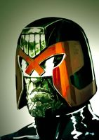 dredd head by TooFriendly