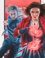 Age of Ultron: Scarlet Witch and Quicksilver by smlshin