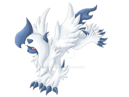 Mega Absol by Kuro-No-Yuki