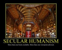 Secular Humanism Motivational Poster by DaVinci41