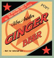 Ginger Beer label by funkydpression