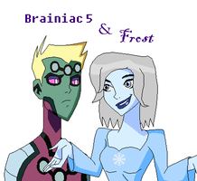 Braniac 5 and Frost by CowboysLittleDevil