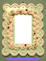 Mint green mirror frame by The-Cute-Storm