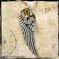 Mechanical Angel Wing Pendant by SoulCatcher06