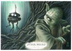 Imperial Probe Droid Searches Dagobah by Erik-Maell