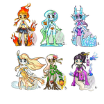 Element minidopts 7 set price (OPEN) 3 left by FancySmancy-adopts