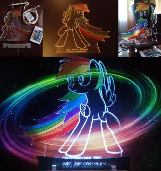 MLP Acrylight - Rainbow Dash by VasGoTec