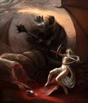 Eowyn and the Nazgul by Aledin