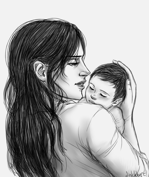 Kuchel and Baby Levi by Dinklebert