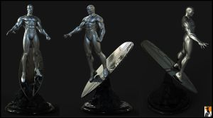 Arrival of the Silver Surfer by AYsculpture