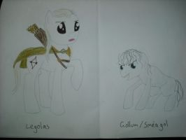 Legolas and Gollum ponies by Qemma