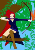 Clare With Bow and Fire by Finny-KunGoddess