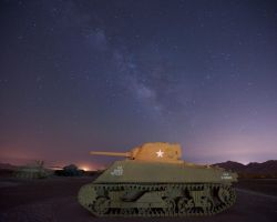 The Tank And The Milky Way by flatsix911