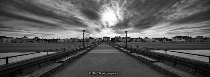 Deal Pier in BnW by GMCPhotographics
