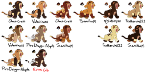 Breedables Cubs by MikasAdoptables