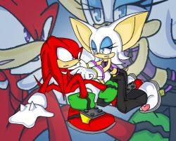 Knux and Rouge by RX-BlackHowling