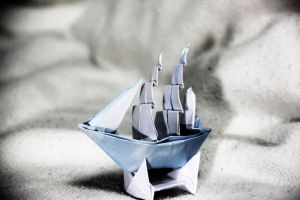 Origami Full-rigged Ship by KennyQuan