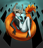 Commission:: Imp Midna by upshdragoon