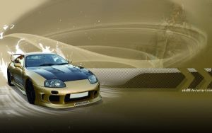 Gold Supra Wallpaper by abz89