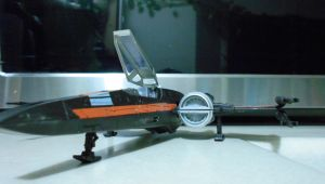 Black 1, Poe Dameron's new X-wing. (landed) by Witchenboy13
