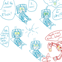 Turbo Time Doodle Comic :P by Weevmo